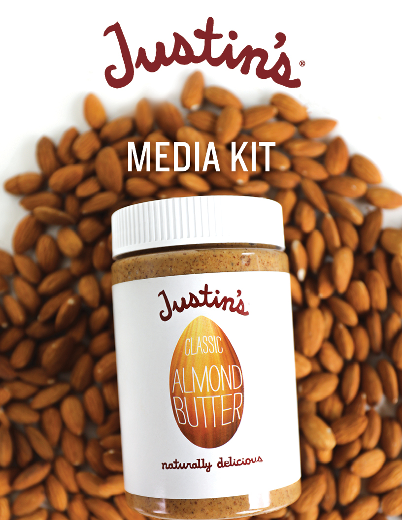 Justin's Media Kit cover with Classic Almond Butter