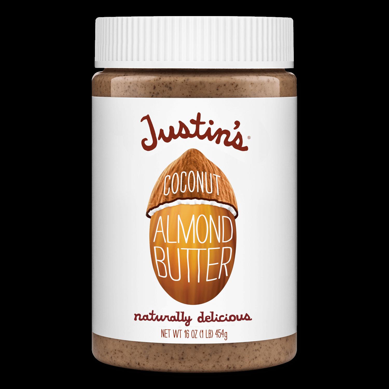 Justin's Coconut Almond Butter Spread jar 16 oz.