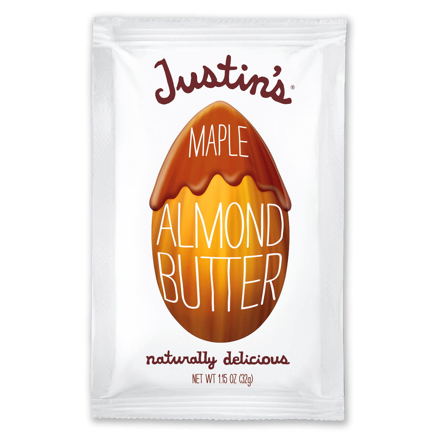 Justin's Maple Almond Butter Spread Squeeze Pack 1.15 oz