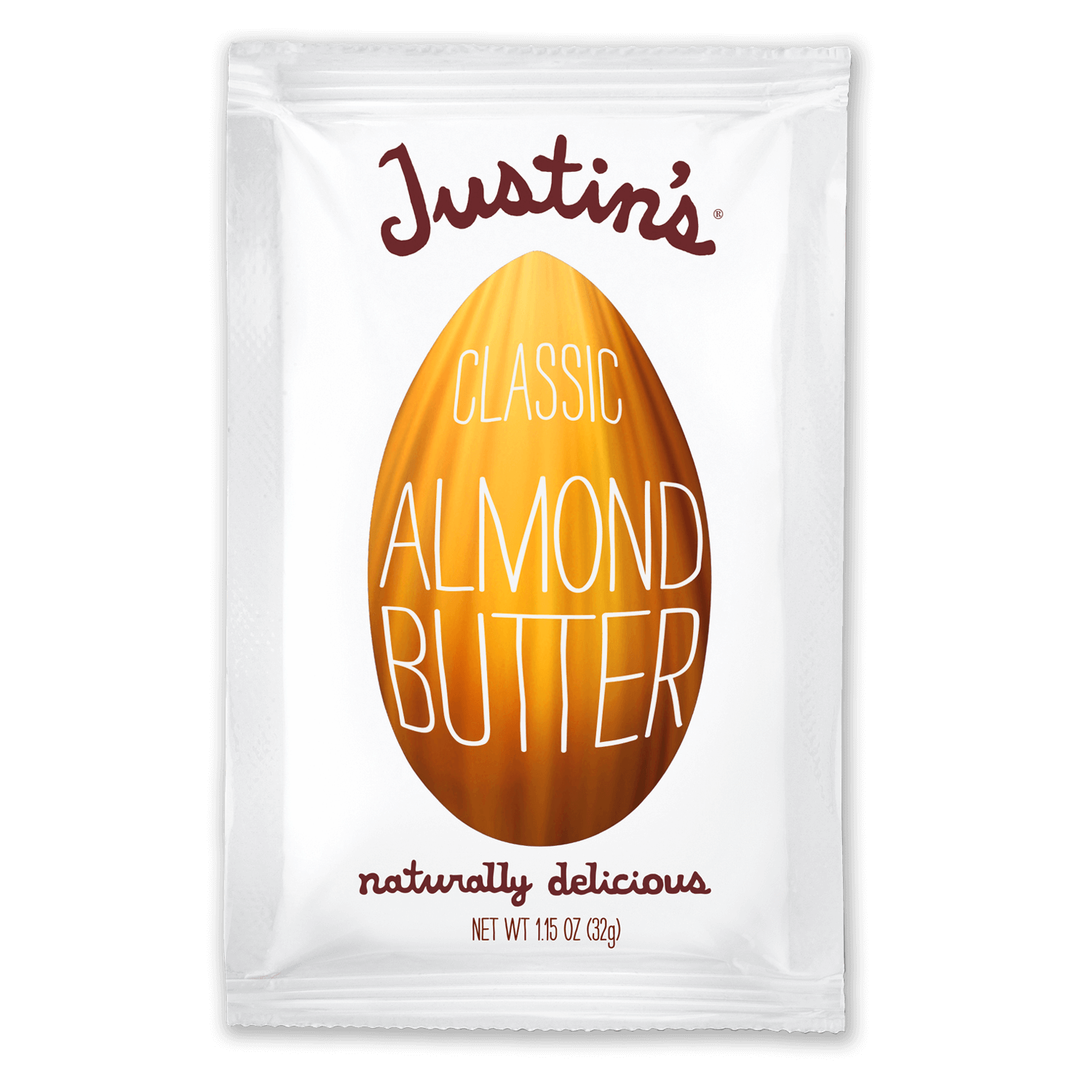 Justin's Classic Almond Butter Spread Squeeze Pack 1.15 oz