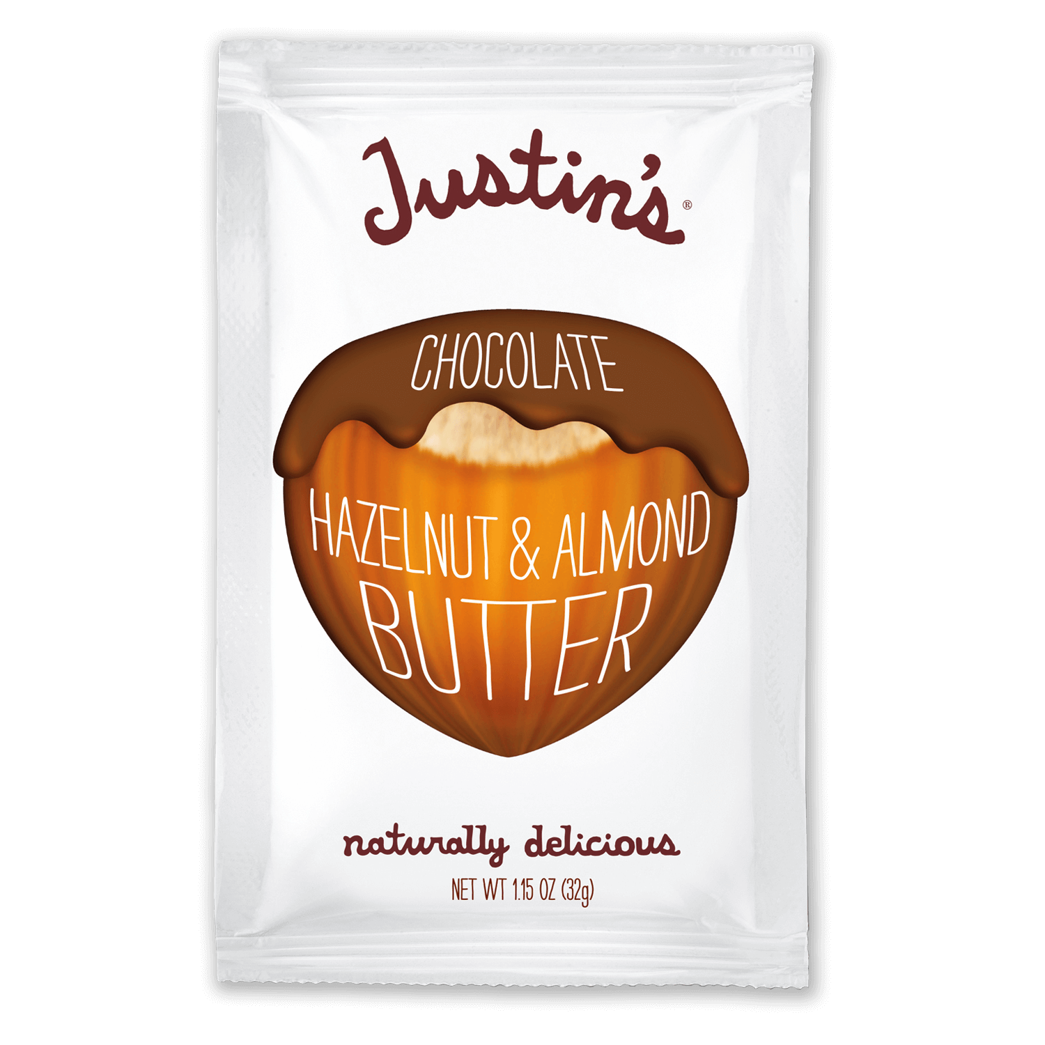 Justin's Chocolate Hazelnut and Almond Butter Spread Squeeze Pack 1.15 oz