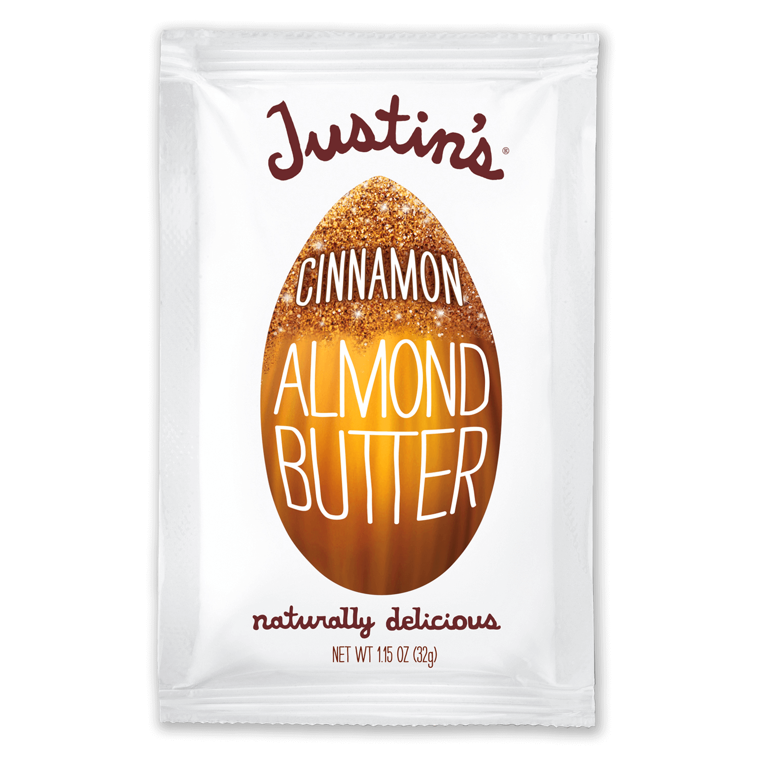 Justin's Cinnamon Almond Butter Spread Squeeze Pack 1.15 oz