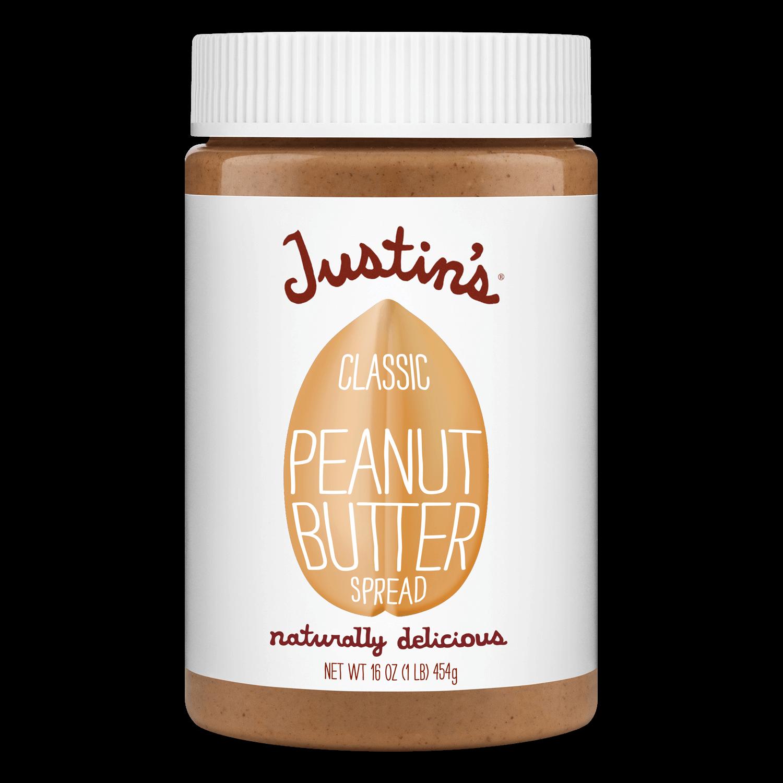 Justin's Classic Peanut Butter Spread Jar 16 oz.