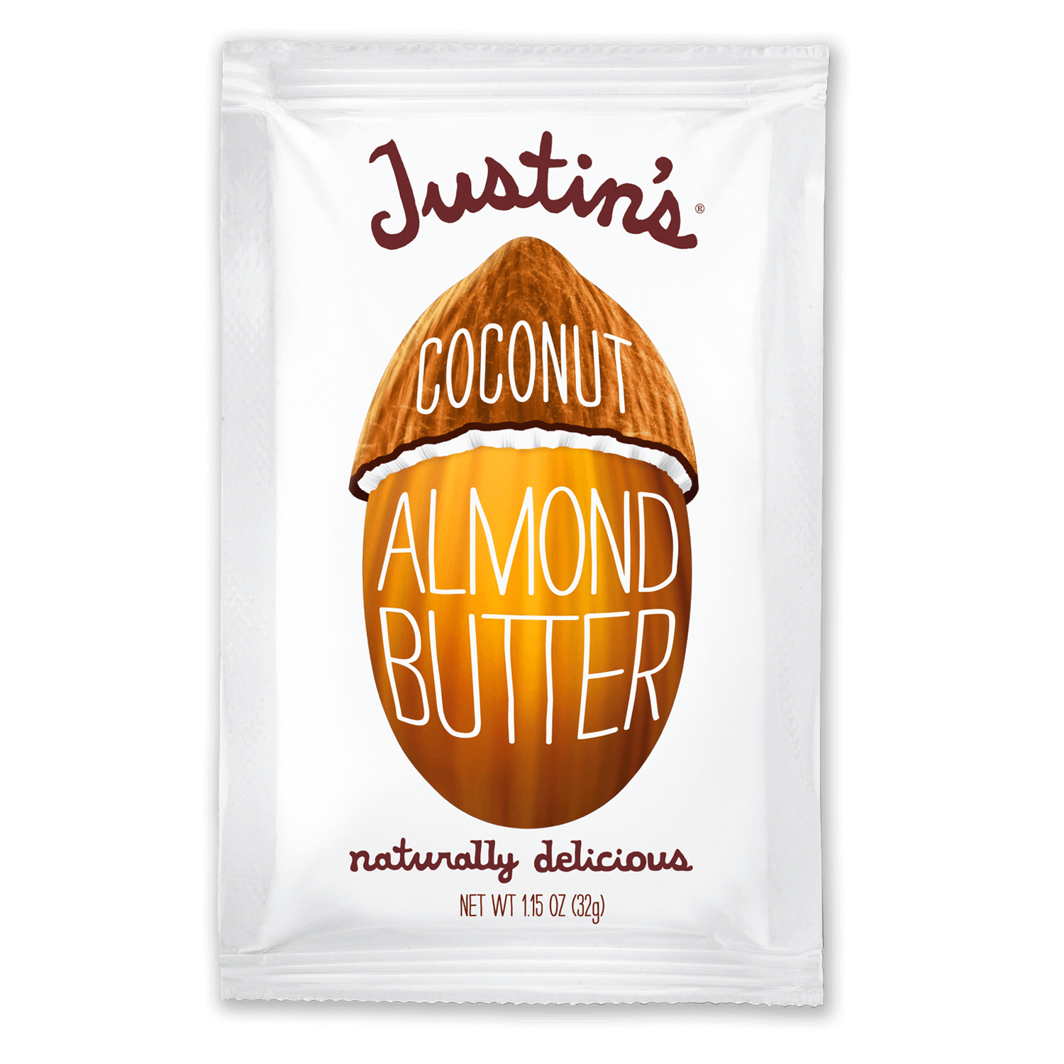 Justin's Coconut Almond Butter Spread Squeeze Pack 1.15 oz