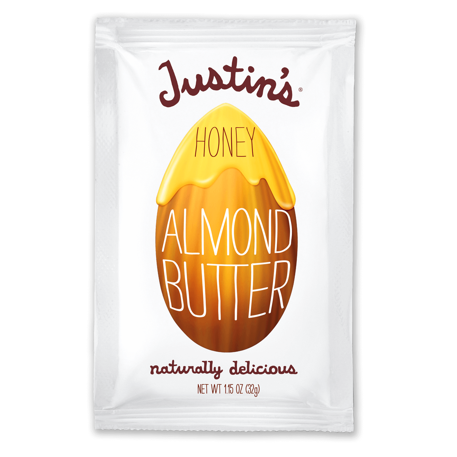 Justin's Honey Almond Butter Spread Squeeze Pack 1.15 oz