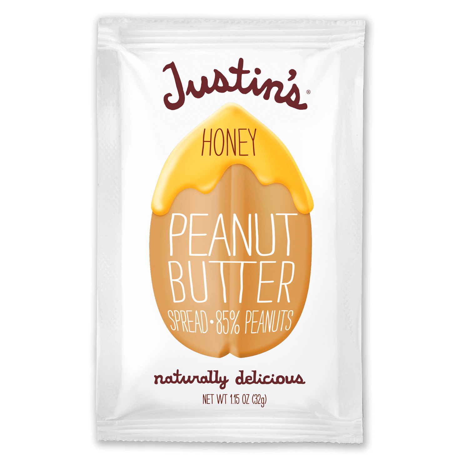 Justin's Honey Peanut Butter Spread Squeeze Pack 1.15 oz