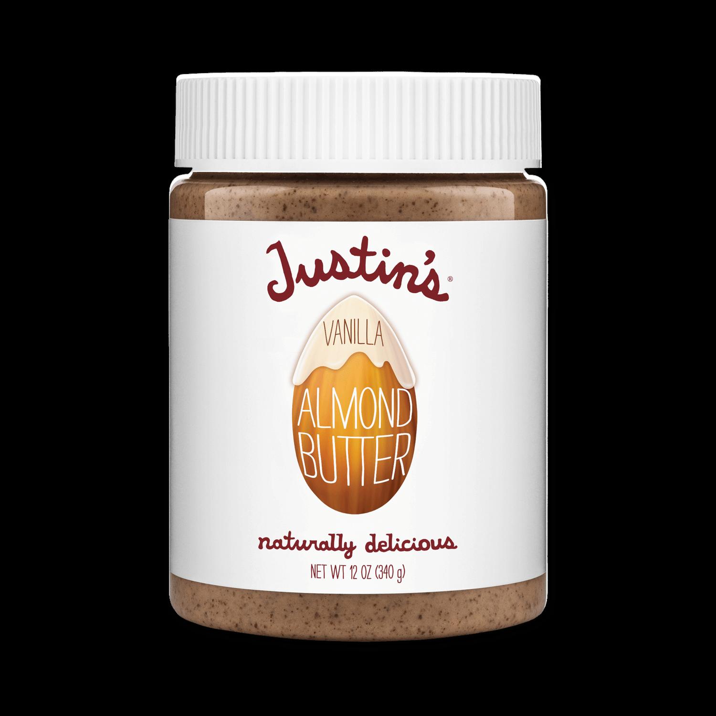 Justin's Vanilla Almond Butter Spread jar 12 oz.