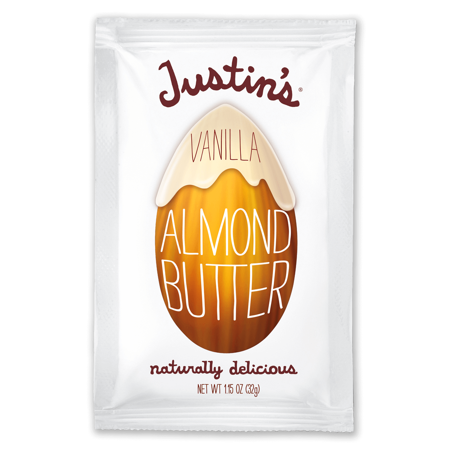 Justin's Vanilla Almond Butter Spread Squeeze Pack 1.15 oz