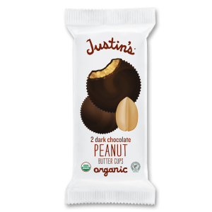 Justin's Dark Chocolate Peanut Butter Cups 2-piece packages 1.4 oz.