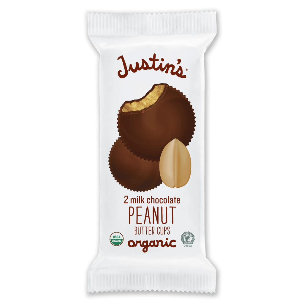 Justin's Milk Chocolate Peanut Butter Cups 2-piece packages 1.4 oz.