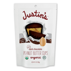Justin's Mini Dark Chocolate Peanut Butter Cups pack 4.7 oz.