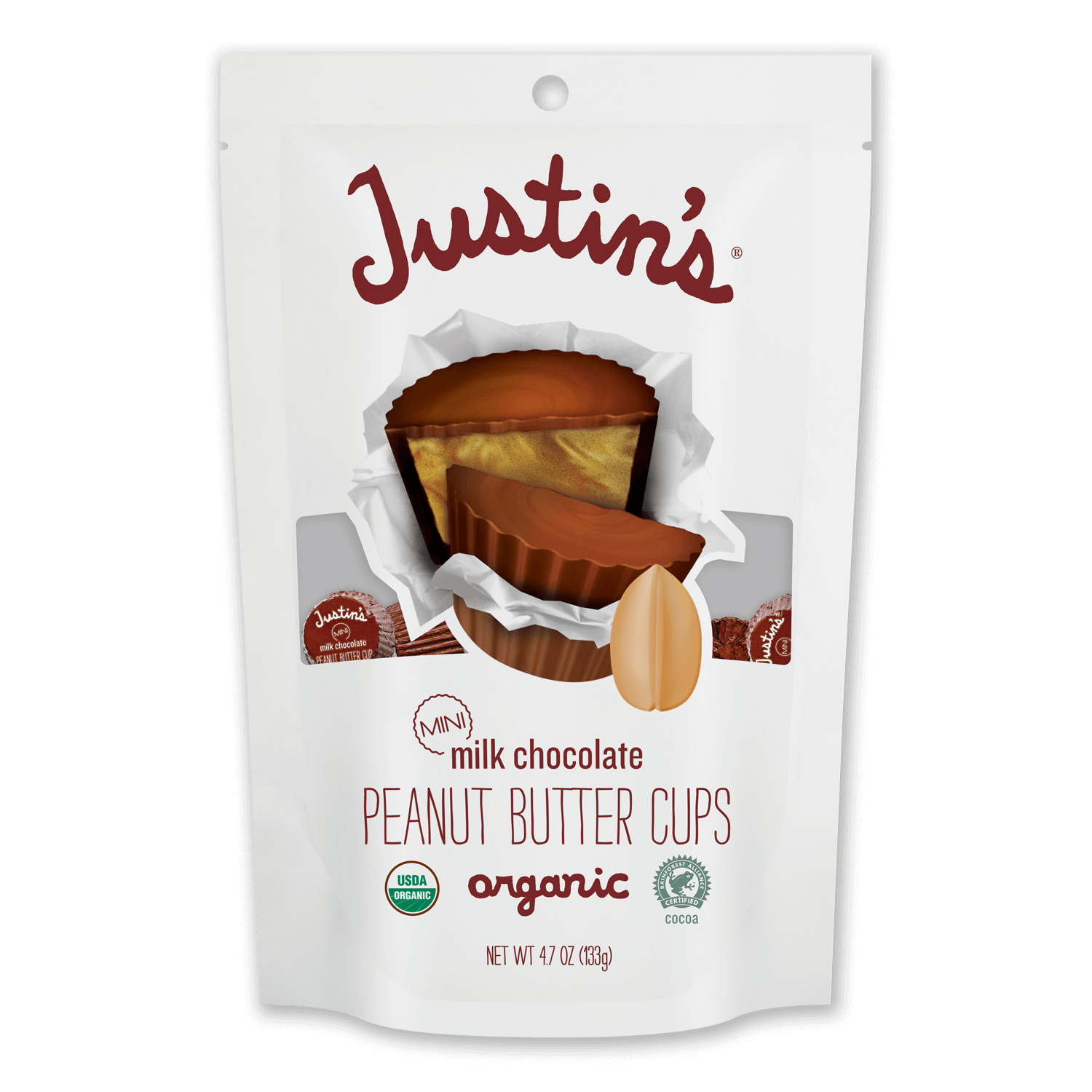 Justin's Mini Milk Chocolate Peanut Butter Cups pack 4.7 oz.
