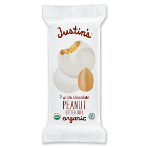 Justin's White Chocolate Peanut Butter Cups 2-piece packages 1.4 oz.