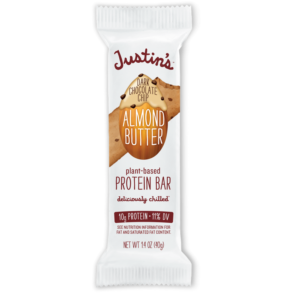 Justin's Dark Chocolate Chip Almond Butter plant-based Protein Bar 1.4 oz