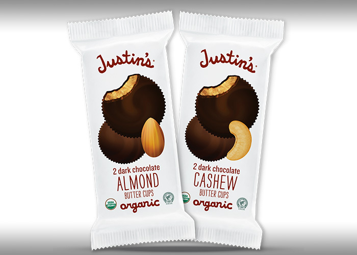 Justin's Dark Chocolate Cashew Butter Cups and Justin's Dark Chocolate Almond Butter Cups