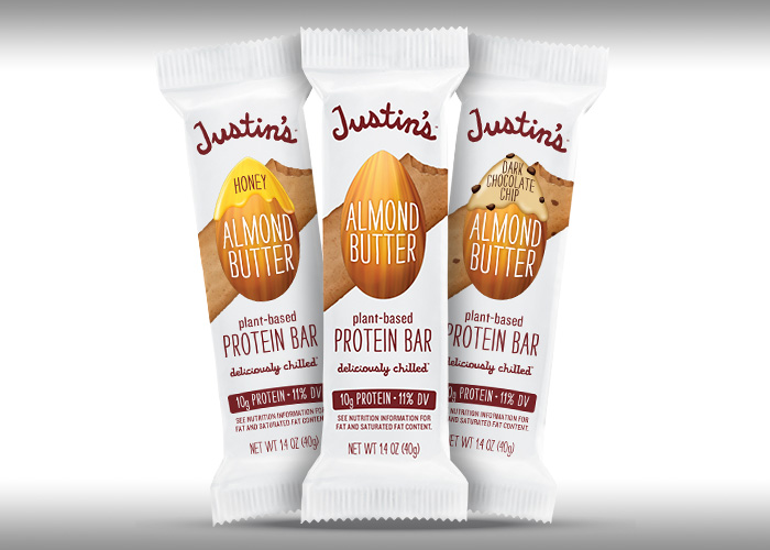 Justin's Almond Butter Protein Bar family shot